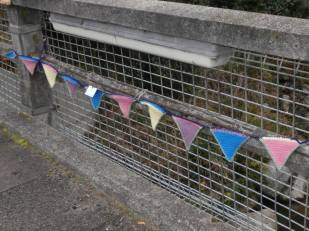 Bunting on the bridge
