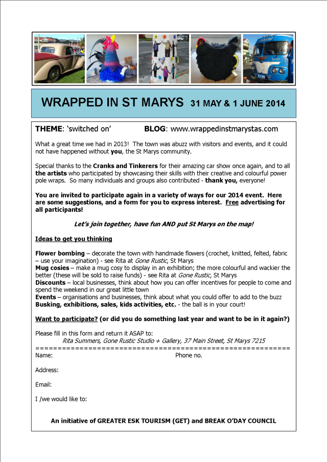 Wrapped in St Marys - Expressions of Interest 2014
